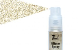 Pearl Glitter Spray Pale Gold