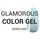 GLAMOROUS COLOR GEL (series 800) Gekleurde gels 801-810 (glamoureus)